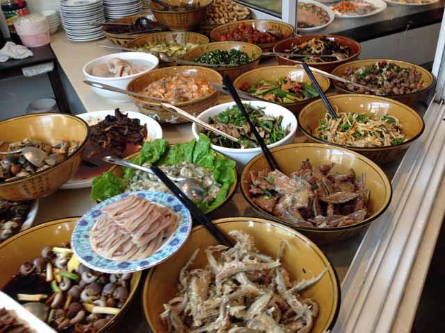 寧波の海鮮料理屋で撮影