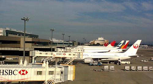 成田空港で撮影したJAL