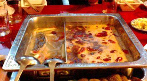 成都で食べた火鍋