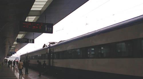 成都駅で撮影