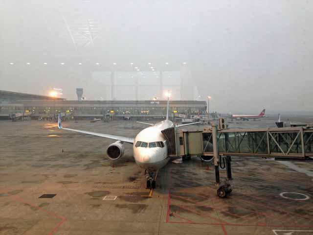 成都空港で撮影
