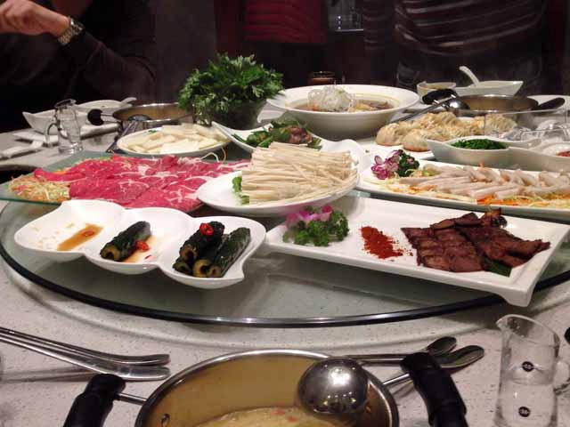 成都で食べた中国風しゃぶしゃぶ