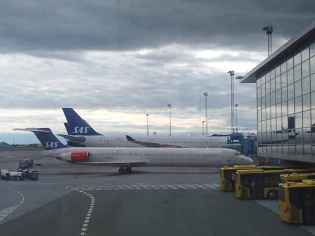 コペンハーゲン空港で撮影