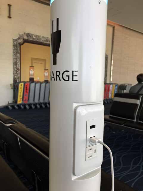 羽田空港の充電ポール