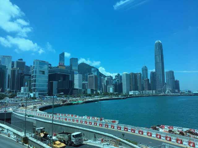 香港展示会場で撮影
