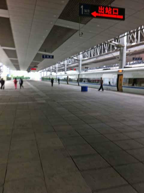 重慶駅で撮影。