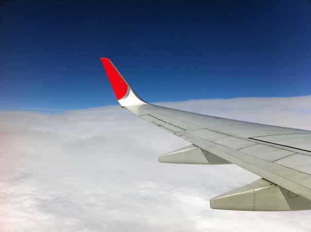 JAL機内で撮影