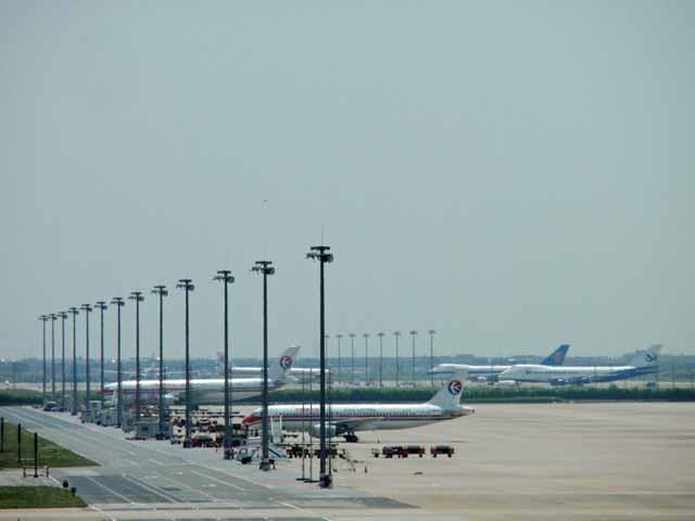 浦東空港で撮影