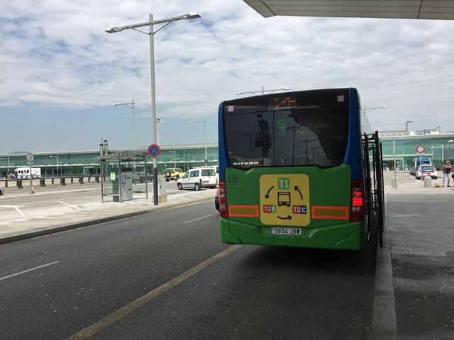 バルセロナ空港ターミナル巡回バス
