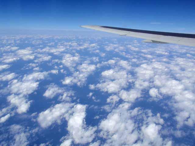 台湾から帰国中の機内