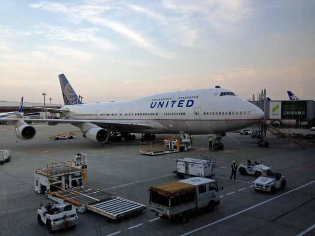ユナイテッド航空 成田空港で撮影しました。