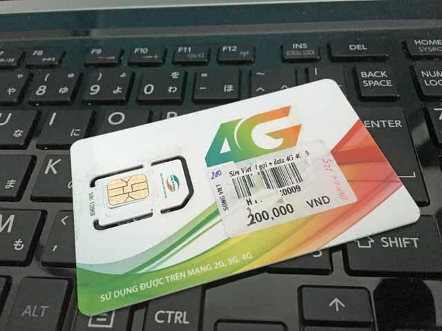 ハノイの空港で買ったViettelのSIMカード