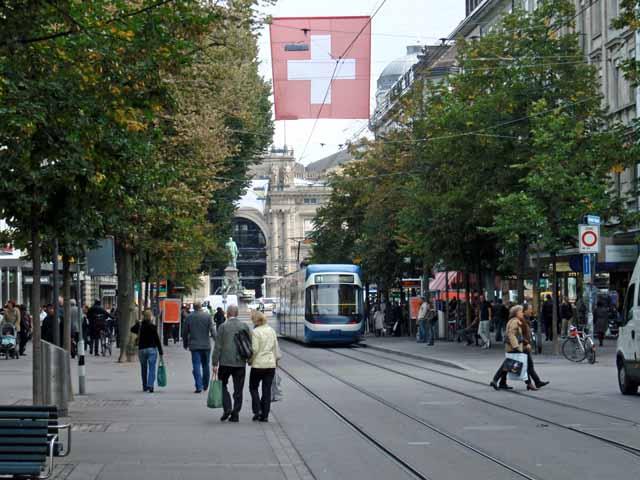 チューリッヒ中央駅付近