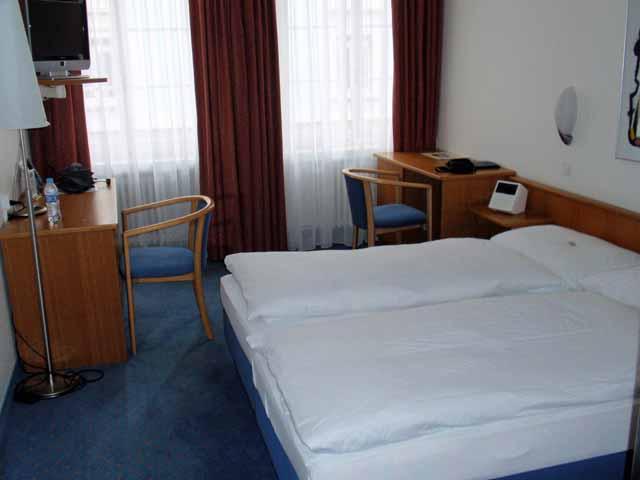チューリッヒのホテルの部屋